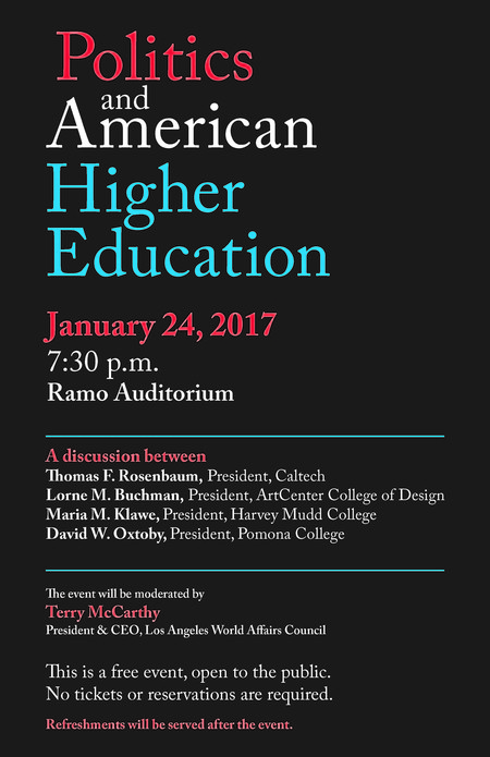 Politics and American Higher Education Panel Poster