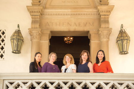 photo of The Asssociates staff outside the Athenaeum