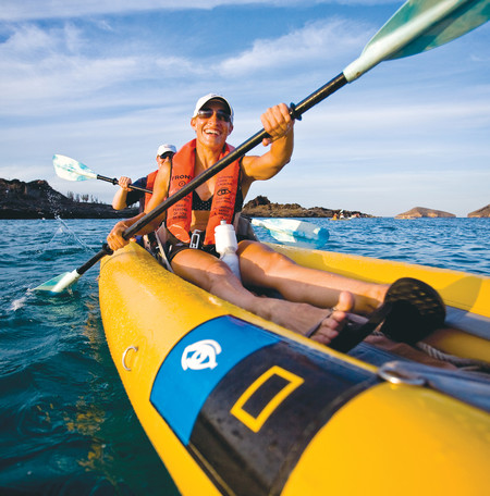 Kayaking in Santiago Island, Galápagos