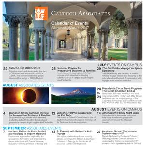 Caltech Associates Summer-Winter 2017 Calendar of Events