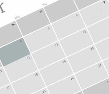 partial image of a calendar grid, shown diagonally