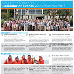 Associates Winter-Summer 2016-17 Calendar of Events