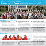 Associates Calendar of Events, Winter-Summer 2017