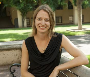 Bethany Elhmann, assistant professor of planetary science and JPL research assistant